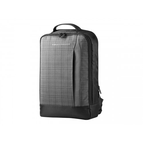 "HP Slim Ultrabook Backpack - Notebook carrying backpack - 15.6"" - grey plaid, black twill - for Chromebook x360; EliteBook 1040 G4; ProBook 650 G4; Stream Pro 11 G4; ZBook 14u G4"