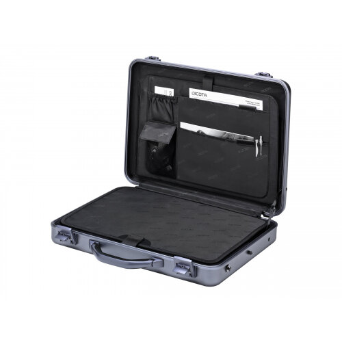 "Dicota Alu Briefcase 17.3 - Notebook carrying case - Laptop Bag - 17.3"" - grey"