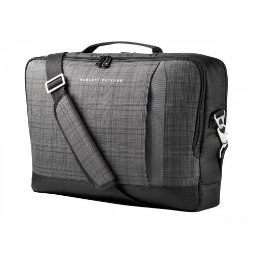 "HP Slim Ultrabook Top Load - Notebook carrying case - Laptop Bag - 15.6"" - grey plaid, black twill - for Chromebook 11; EliteBook 1040 G4; ProBook 650 G4; Stream Pro 11 G4; ZBook 14u G4"