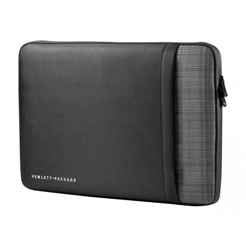 """HP Ultrabook Professional Sleeve - Notebook sleeve - 15.6"""" - solid black with grey plaid accents - for Chromebook x360; EliteBook 1040 G4, 755 G4; Stream Pro 11 G4; ZBook 14u G4, Studio G4"""