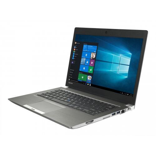 "Toshiba Portege Z30-C-16L  Laptop - Core i7 6500U / 2.5 GHz - Win 10 Pro 64-bit - 8 GB RAM - 256 GB SSD - 13.3"" 1920 x 1080 (Full HD) - HD Graphics 520 - Wi-Fi - steel gray metallic - with 1 Year Reliability Guarantee - Up to 11 Hours Battery Life"