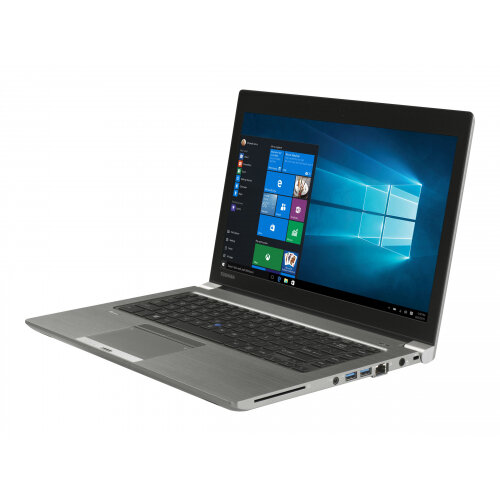 "Toshiba Tecra Z40-C-12X  Laptop - Core i5 6200U / 2.3 GHz - Win 10 Pro 64-bit - 4 GB RAM - 128 GB SSD - 14"" IPS 1920 x 1080 (Full HD) - HD Graphics 520 - Wi-Fi - steel gray metallic - Up to 8 Hours Battery Life"