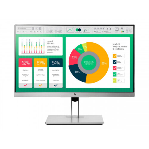 "HP EliteDisplay E223 - LED Computer Monitor - 21.5"" - 1920 x 1080 Full HD (1080p) - IPS - 250 cd/m² - 1000:1 - 5 ms - HDMI, VGA, DisplayPort - silver, black (rear cover)"