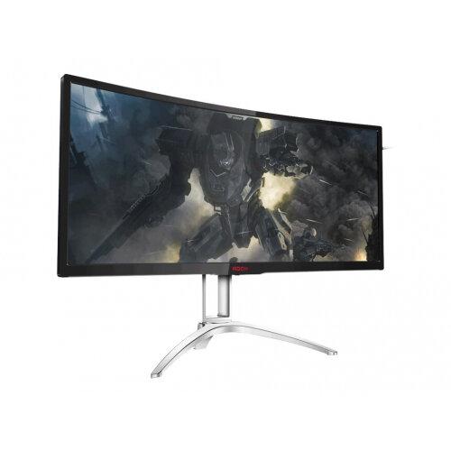 "AOC Gaming AGON series AG352QCX - LCD Computer Monitor - curved - 35"" (35"" viewable) - 2560 x 1080 - MVA - 300 cd/m² - 2000:1 - 4 ms - HDMI, MHL, DVI, DisplayPort, VGA - speakers - black/silver"