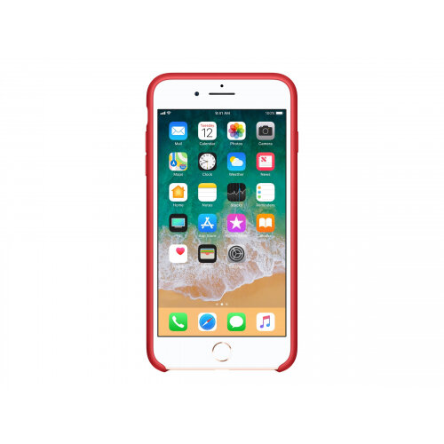 Apple (PRODUCT) RED - Back cover for mobile phone - silicone - red - for iPhone 7 Plus, 8 Plus
