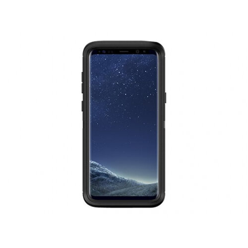 OtterBox Defender Series - Back cover for mobile phone - rugged - polycarbonate, synthetic rubber - black - for Samsung Galaxy S8+