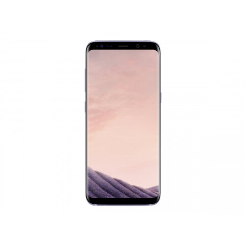 "Samsung Galaxy S8 - SM-G950F - smartphone - 4G LTE - 64 GB - microSDXC slot - 5.8"" - 2960 x 1440 pixels (570 ppi) - Super AMOLED - RAM 4 GB - 12 MP (8 MP front camera) - Android - orchid grey"