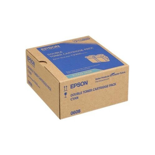 Epson S050608 Double Pack - 2-pack - cyan - original - toner cartridge - C13S050608 7500+ Pages