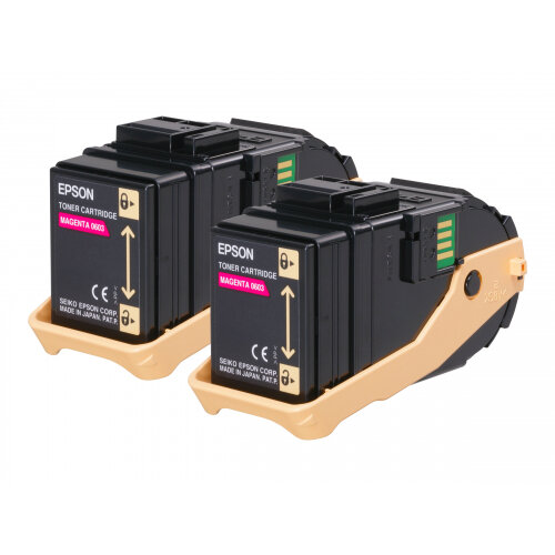 Epson S050607 Double Pack - 2-pack - magenta - original - toner cartridge - C13S050607 7500+ Pages