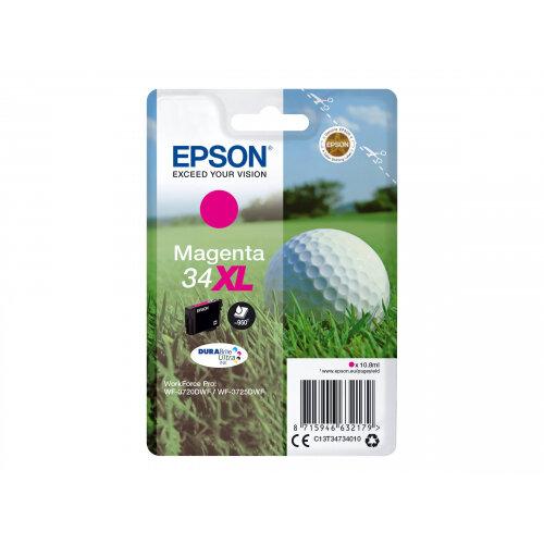 Epson 34XL - 10.8 ml - XL - magenta - original - blister - ink cartridge - for WorkForce Pro WF-3720, WF-3720DWF, WF-3725DWF