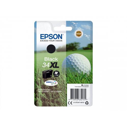 Epson 34XL - 16.3 ml - XL - black - original - blister - ink cartridge - for WorkForce Pro WF-3720, WF-3720DWF, WF-3725DWF
