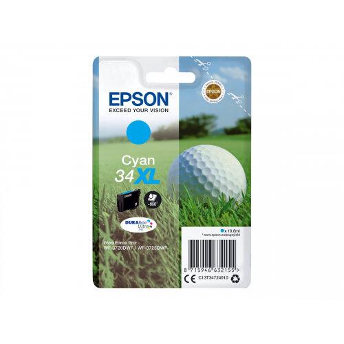 Epson 34XL - 10.8 ml - XL - cyan - original - ink cartridge - for WorkForce Pro WF-3720, WF-3720DWF, WF-3725DWF