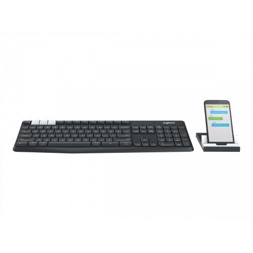 Logitech K375s Multi-Device - Keyboard - Bluetooth, 2.4 GHz - UK English - graphite, off-white
