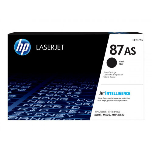 HP 87A - Black - original - LaserJet - toner cartridge (CF287A) - for LaserJet Enterprise Flow MFP M527; LaserJet Managed MFP M527; LaserJet Pro M501