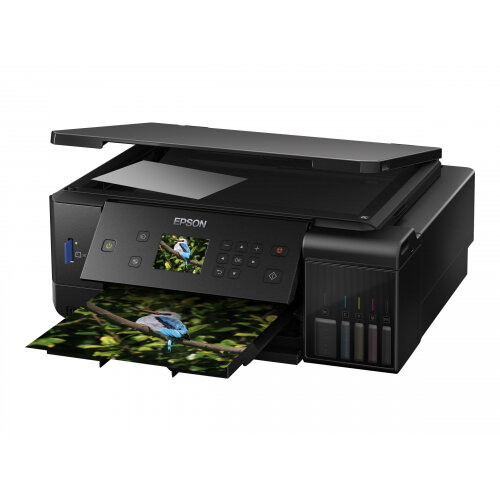 Epson EcoTank ET-7700 - Multifunction printer - colour - ink-jet - A4/Legal (media) - up to 32 ppm (printing) - 100 sheets - USB, LAN, USB host, Wi-Fi