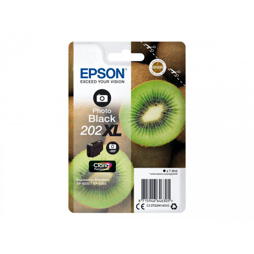 Epson 202XL - 7.9 ml - high capacity - photo black - original - blister - ink cartridge - for Expression Premium XP-6000, XP-6005