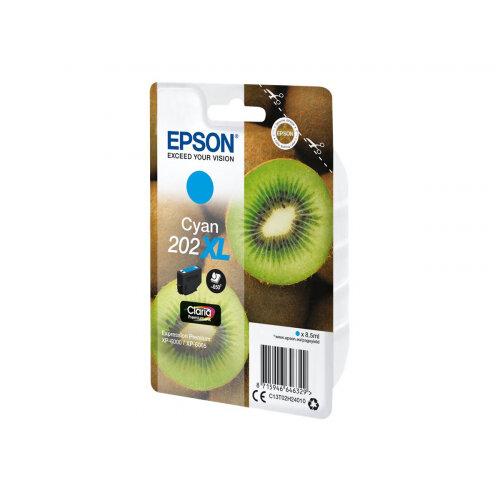Epson 202XL - 8.5 ml - high capacity - cyan - original - blister - ink cartridge - for Expression Premium XP-6000, XP-6005