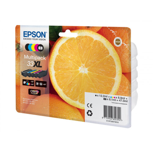 Epson 33XL Multipack - 5-pack - 47 ml - XL - black, yellow, cyan, magenta, photo black - original - blister - ink cartridge - for Expression Premium XP-530, XP-630, XP-635, XP-640, XP-645, XP-830, XP-900