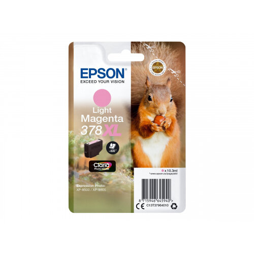 Epson 378XL - 10.3 ml - XL - light magenta - original - blister - ink cartridge - for Expression Photo XP-8500, XP-8500 Small-in-One, XP-8505