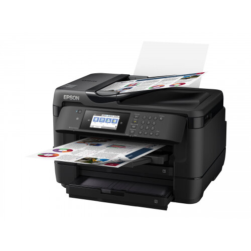 Epson WorkForce WF-7720DTWF - Multifunction printer - colour - ink-jet - A3 (297 x 420 mm) (original) - A3 (media) - up to 32 ppm (printing) - 500 sheets - 33.6 Kbps - USB 2.0, LAN, Wi-Fi(n), USB host, NFC