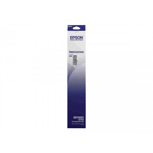 Epson - 1 - black - printer fabric ribbon - for LQ 1000, 1010, 1050, 1050+, 1070, 1070+, 1170