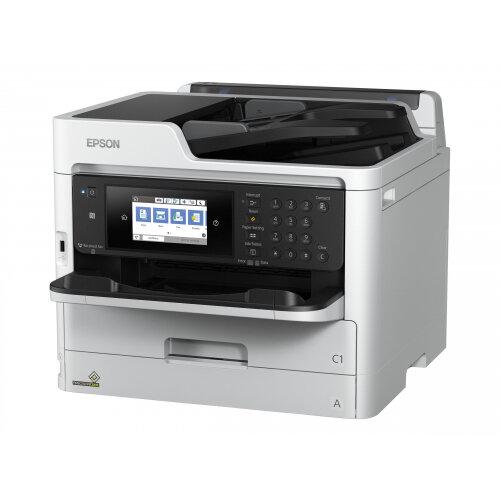 Epson WorkForce Pro WF-C5790DWF - Multifunction printer - colour - ink-jet - Legal (216 x 356 mm) (original) - A4/Legal (media) - up to 22 ppm (copying) - up to 34 ppm (printing) - 330 sheets - 33.6 Kbps - USB 2.0, Gigabit LAN, Wi-Fi(n), USB host, NFC
