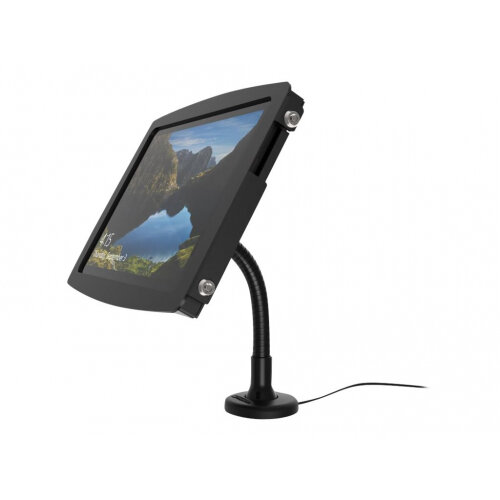 """Compulocks Space Flex Arm - Surface Pro 3/4 / Galaxy TabPro S Counter Top Kiosk - Black - Mounting kit (wall mount, anti-theft enclosure, flexible arm) for tablet - lockable - high-grade aluminium - black - screen size: 12"""" - for Microsoft Surface Pro 3,"""