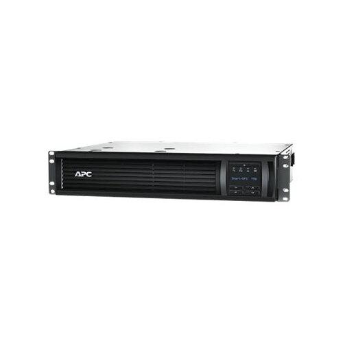 APC Smart-UPS 750VA LCD RM - UPS (rack-mountable) - AC 230 V - 500 Watt - 750 VA - Ethernet, RS-232, USB - output connectors: 4 - 2U - black - with APC UPS Network Management Card