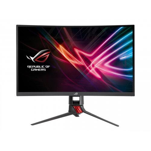"ASUS ROG Strix XG27VQ - LED Computer Monitor - curved - 27"" - 1920 x 1080 Full HD (1080p) - VA - 300 cd/m² - 3000:1 - 4 ms - HDMI, DVI-D, DisplayPort - red, dark grey"