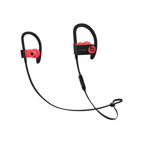 Beats Powerbeats3 - Earphones with mic - in-ear - over-the-ear mount - Bluetooth - wireless - noise isolating - siren red - for 10.5-inch iPad Pro; 12.9-inch iPad Pro; 9.7-inch iPad (5th generation, 6th generation); 9.7-inch iPad Pro; iPad Air; iPad Air 2
