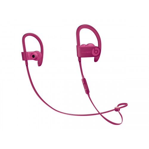 Beats Powerbeats3 Neighbourhood Collection - Earphones with mic - in-ear - over-the-ear mount - Bluetooth - wireless - noise isolating - brick red - for 10.5-inch iPad Pro; 12.9-inch iPad Pro; 9.7-inch iPad (5th generation, 6th generation); 9.7-inch iPad