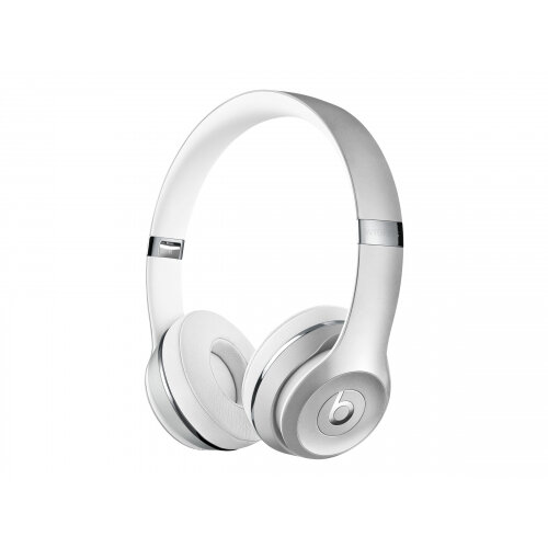 Beats Solo3 - Headphones with mic - on-ear - Bluetooth - wireless - silver - for 10.5-inch iPad Pro; 12.9-inch iPad Pro; 9.7-inch iPad (5th generation, 6th generation); iPad Air; iPad Air 2; iPad mini 2; 3; 4; iPhone 5, 5c, 5s, 6, 6 Plus, 6s, 6s Plus, 7,