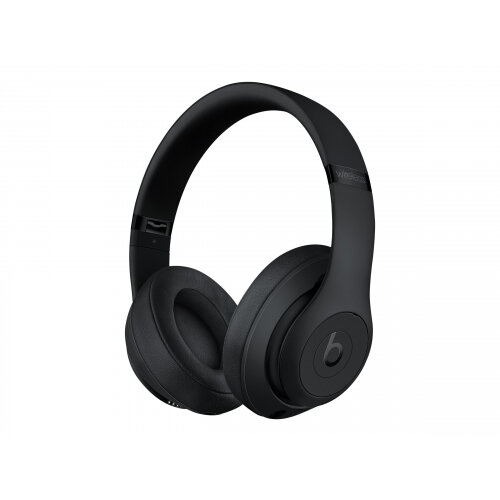 Beats Studio3 Wireless - Headphones with mic - full size - Bluetooth - wireless - active noise cancelling - noise isolating - matte black - for 10.5-inch iPad Pro; 12.9-inch iPad Pro; 9.7-inch iPad (5th generation, 6th generation); 9.7-inch iPad Pro; iPad