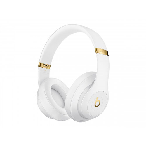 Beats Studio3 Wireless - Headphones with mic - full size - Bluetooth - wireless - active noise cancelling - noise isolating - white - for 10.5-inch iPad Pro; 12.9-inch iPad Pro; 9.7-inch iPad (5th generation, 6th generation); 9.7-inch iPad Pro; iPad Air;