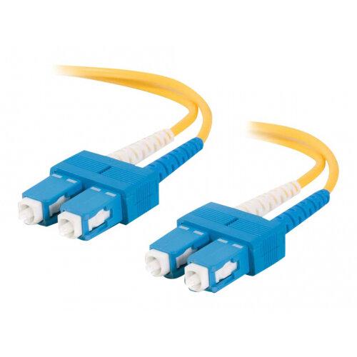 C2G SC-SC 9/125 OS1 Duplex Singlemode PVC Fiber Optic Cable (LSZH) - Patch cable - SC single-mode (M) to SC single-mode (M) - 3 m - fibre optic - 9 / 125 micron - OS1 - halogen-free - yellow