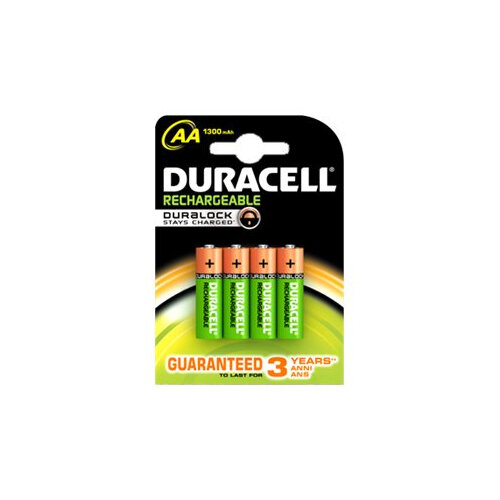 Duracell Rechargeable - Battery 4 x AA type NiMH ( rechargeable ) 1300 mAh