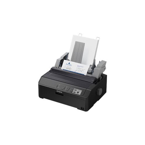 Epson FX 890II - Printer - monochrome - dot-matrix - Roll (21.6 cm), JIS B4, 254 mm (width) - 240 x 144 dpi - 9 pin - up to 738 char/sec - parallel, USB 2.0, LAN