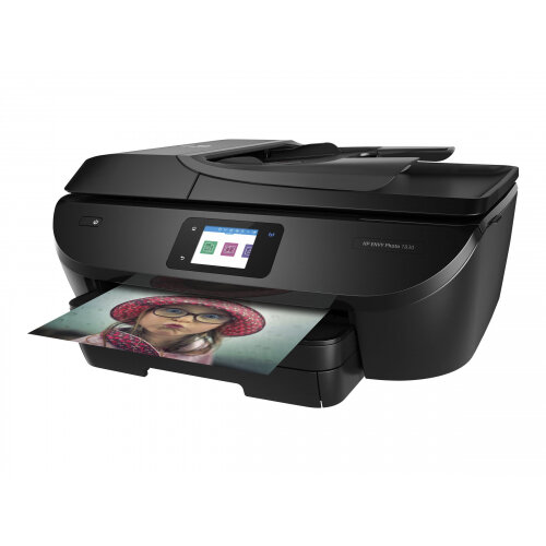 HP Envy Photo 7830 All-in-One - Multifunction printer - colour - ink-jet - Legal (216 x 356 mm) (original) - A4/Legal (media) - up to 21 ppm (copying) - up to 22 ppm (printing) - 125 sheets - 33.6 Kbps - USB 2.0, LAN, Wi-Fi(n), USB host, Bluetooth