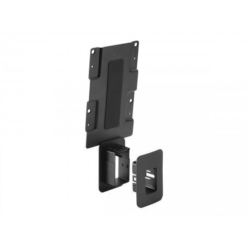 HP - Thin client to monitor mounting bracket - black - for HP t530, t628, Z24, Z25; EliteDisplay E222, E232, E240; ProDesk 600 G3; Workstation Z2