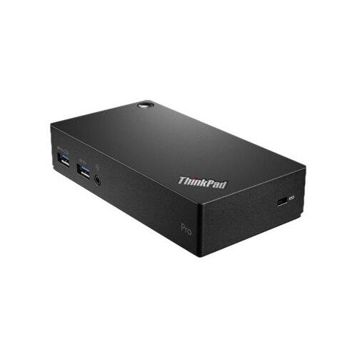 Lenovo ThinkPad USB 3.0 Pro Dock - Docking station - USB - GigE - 45 Watt - for Tablet 10; ThinkPad A275; A475; L380; L470; L480; P51; P52; P71; T480; X270; X280