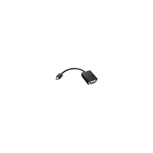 Lenovo - VGA cable - Mini DisplayPort (M) to HD-15 (F) - 20 cm - for Lenovo ThinkPad Helix; ThinkPad L570; P51; T430; T430i; T431s; T470p; T530; T530i; W550s; X1; X1 Yoga; X240; X250; X260