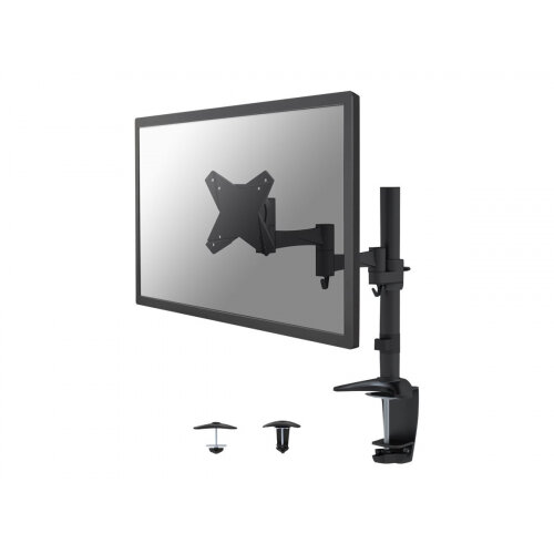 "NewStar Full Motion Desk Mount (clamp &grommet) for 10-30"" Monitor Screen, Height Adjustable - Black - Desk mount for LCD display - black - screen size: 10""-30"""