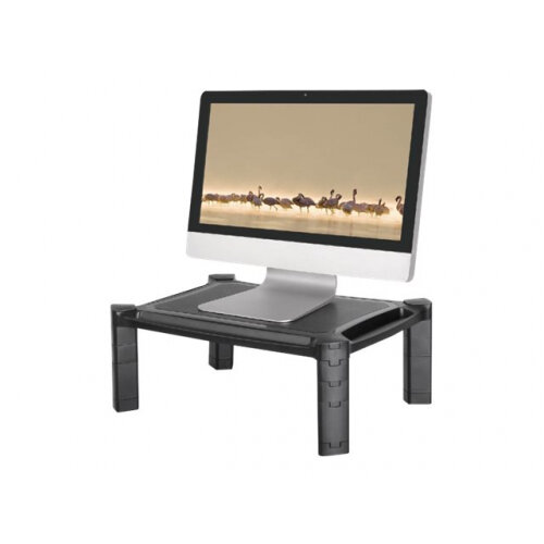 "NewStar Laptop or Monitor Stand/Riser, Height Adjustable - Stand for monitor / notebook - black - screen size: 10""-32"" - table-top"