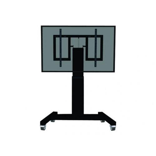 """NewStar Motorized (Height &Tilt Adjustable) Mobile Floor Stand for 42-100"""" Screen, Black - Cart for LCD / plasma panel / media player / mini PC (motorised) - black, RAL 9005 - screen size: 42""""-100"""""""