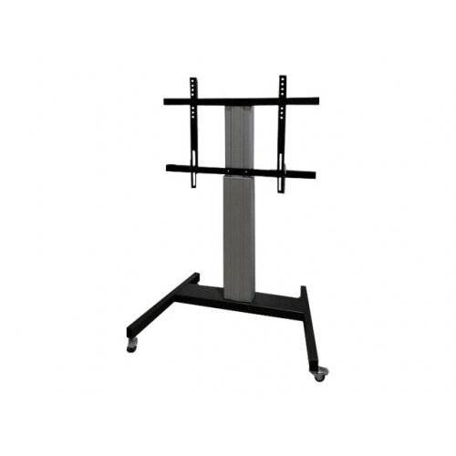 """NewStar Motorized (Height Adjustable) Mobile Floor Stand for 42-100"""" Screen, Silver - Cart for LCD display (motorised) - silver - screen size: 42""""-100"""""""