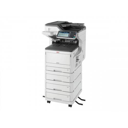 OKI MC853DNV - Multifunction printer - colour - LED - 297 x 431.8 mm (original) - A3 (media) - up to 23 ppm (copying) - up to 23 ppm (printing) - 2005 sheets - 33.6 Kbps - USB 2.0, Gigabit LAN, USB host