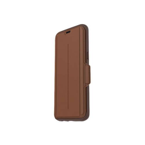 OtterBox Strada - Flip cover for mobile phone - genuine leather - burnt saddle - for Samsung Galaxy S8