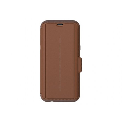 OtterBox Strada Series Folio Samsung Galaxy S8+ - Flip cover for mobile phone - leather, polycarbonate - burnt saddle - for Samsung Galaxy S8+