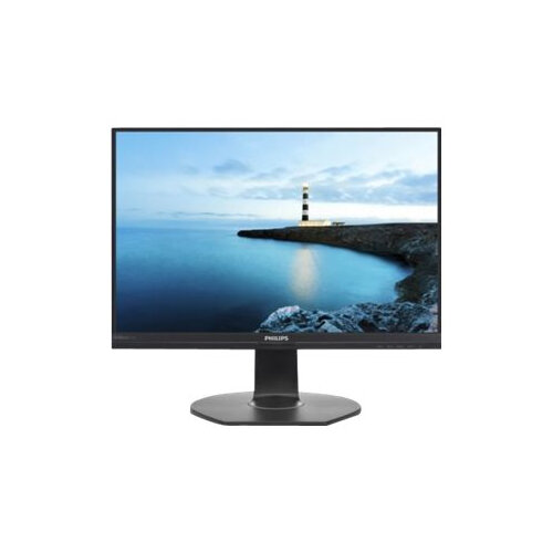 "Philips B Line 241B7QUPBEB - LED Computer Monitor - 24"" (23.8"" viewable) - 1920 x 1080 Full HD (1080p) - IPS - 250 cd/m² - 1000:1 - 5 ms - HDMI, VGA, DisplayPort, USB-C - speakers - textured black"