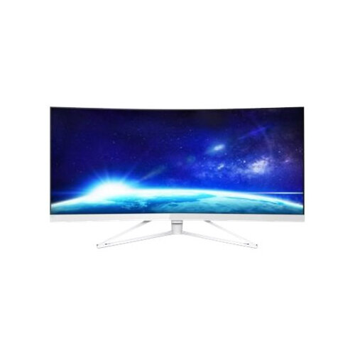 "Philips Brilliance X-line 349X7FJEW - LED Computer Monitor - curved - 34"" (34"" viewable) - 3440 x 1440 - 300 cd/m² - 3000:1 - 4 ms - 2xHDMI, DisplayPort - white, glossy, silver chrome"